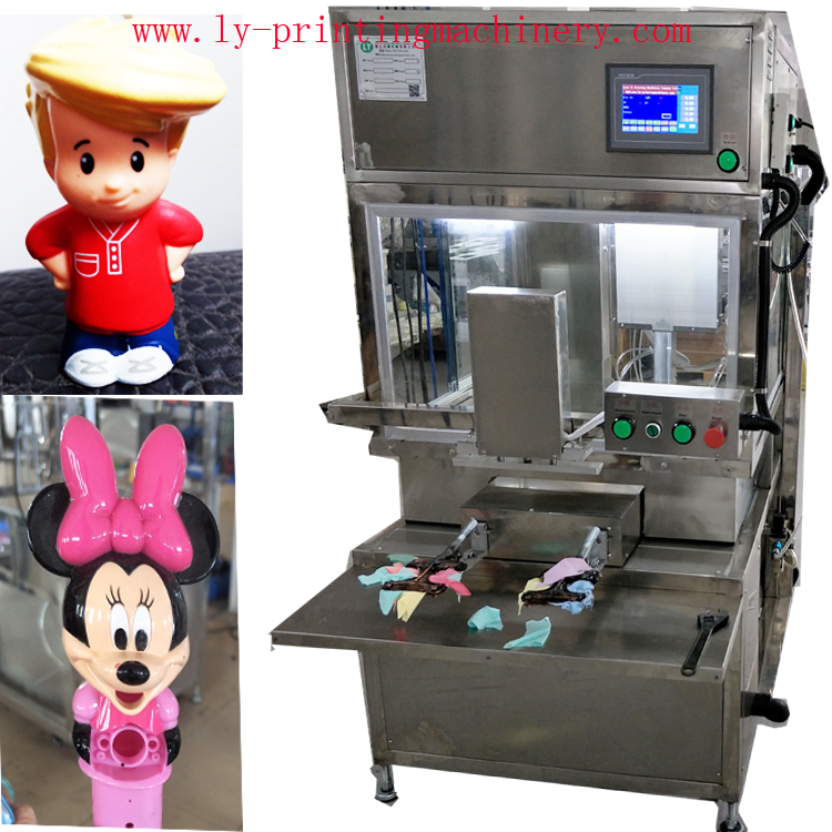 Automatic spray painting machine for toy
