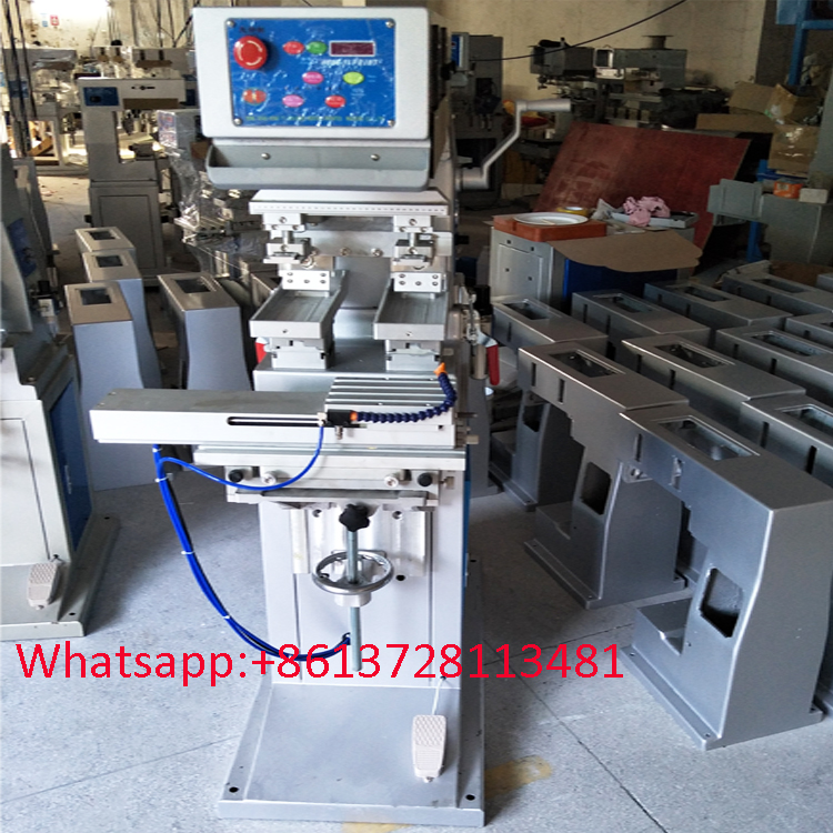 100*250 plate 2 color pad printing machine